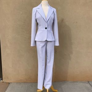 Tracy Evans pinstriped woman's pants suit